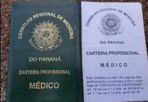carteira falsa Falso médico preso em Maringá recebia até 50 mil Reais por mês